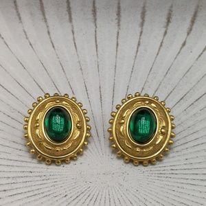 🌵 Vintage gypsy quality queen emerald jewel 24k